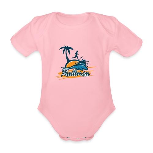 Joggen auf Mallorca - Sport - sportlich - Jogging - Baby Bio-Kurzarm-Body
