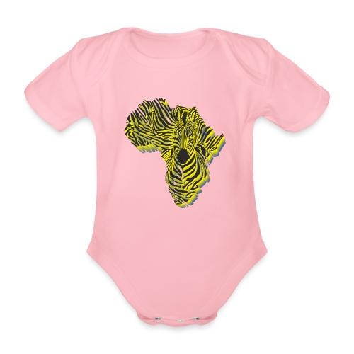 Symbol Afrika in der Zebratarnung - Baby Bio-Kurzarm-Body