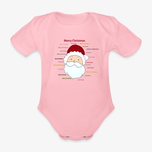 pere noel Merry x mas - Organic Short-sleeved Baby Bodysuit