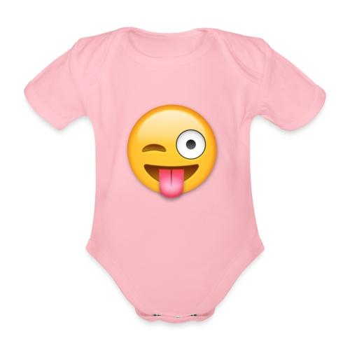 Winking Face - Baby Bio-Kurzarm-Body