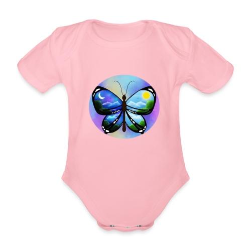 Blue Butterfly nature amazon - Body orgánico de manga corta para bebé