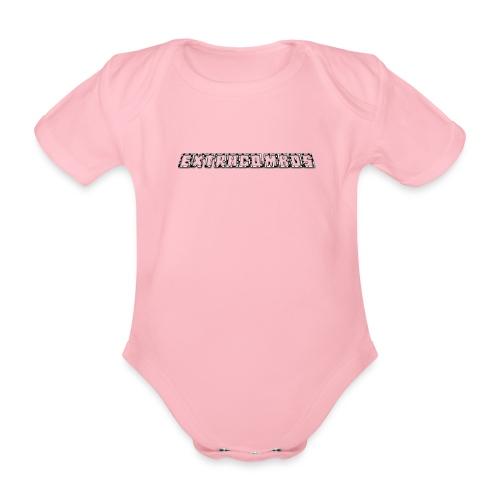 museplade - Kortærmet babybody, økologisk bomuld