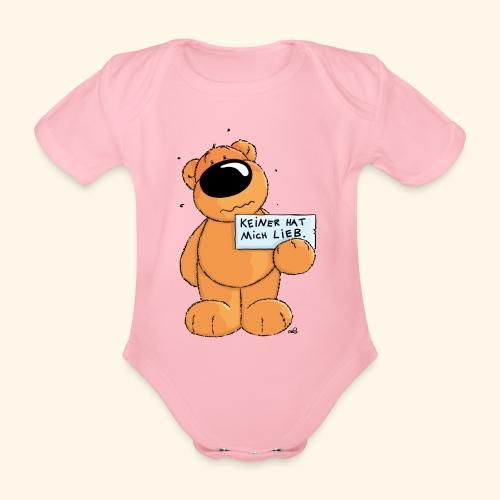 chris bears Keiner hat mich lieb - Baby Bio-Kurzarm-Body