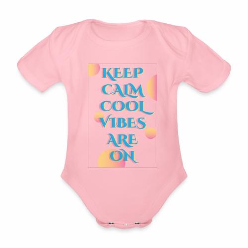 KEEP CALM VIBES - Organic Short-sleeved Baby Bodysuit