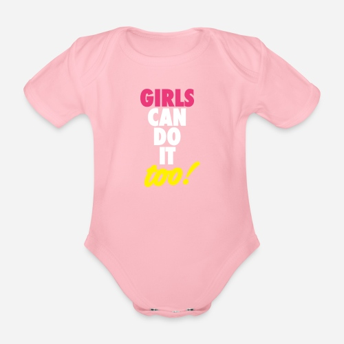 OmaAdele - Girls can do it too - Baby Bio-Kurzarm-Body
