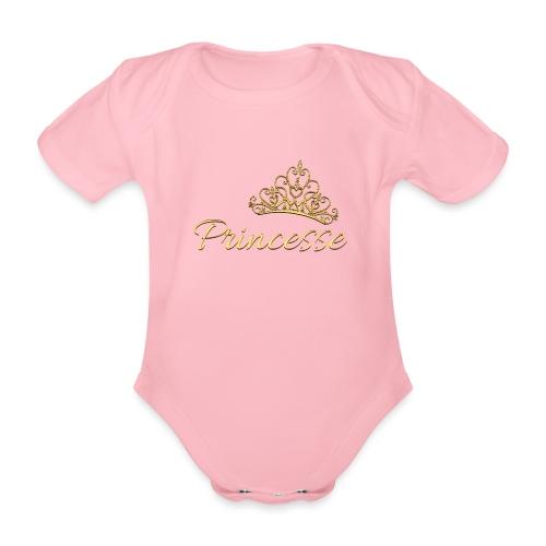 Princesse Or - by T-shirt chic et choc - Body Bébé bio manches courtes