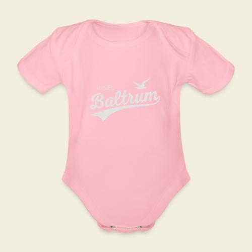 Baltrum-Logo Möwe - Baby Bio-Kurzarm-Body