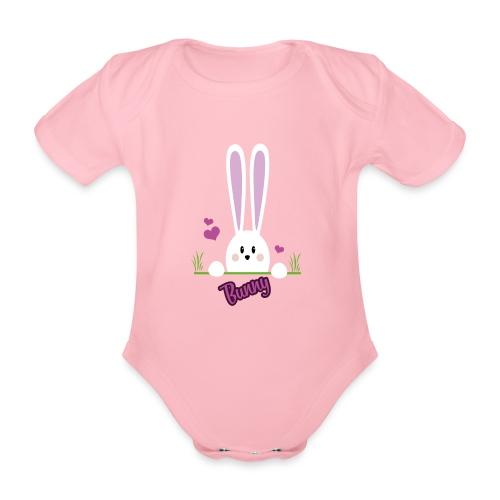bunny girl - Baby Bio-Kurzarm-Body