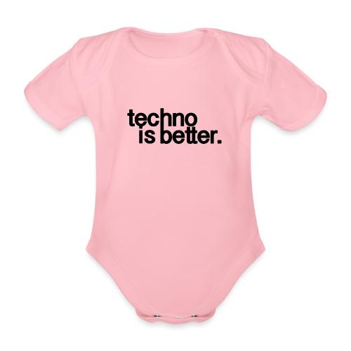 techno is better logo - Ekologiczne body niemowlęce z krótkim rękawem