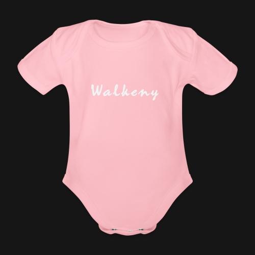 Walkeny Schriftzug in weiß! - Baby Bio-Kurzarm-Body