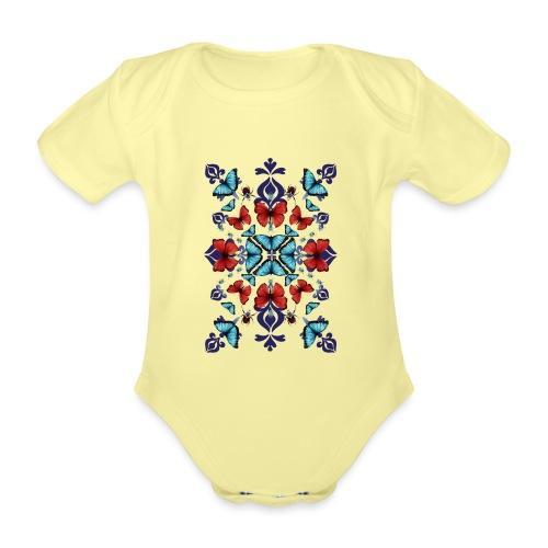 Mix di farfalle - Body ecologico per neonato a manica corta