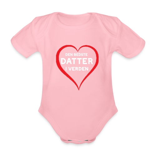 Bedste Datter i Verden - Kortærmet babybody, økologisk bomuld