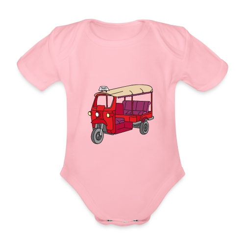 Rote Autorikscha, Tuk-tuk - Baby Bio-Kurzarm-Body