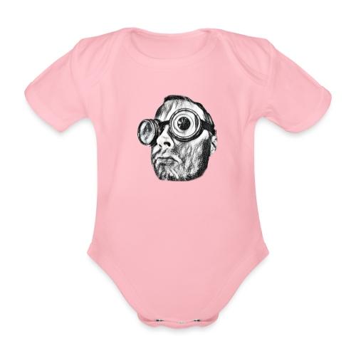 Face Tegner 2 - Kortærmet babybody, økologisk bomuld