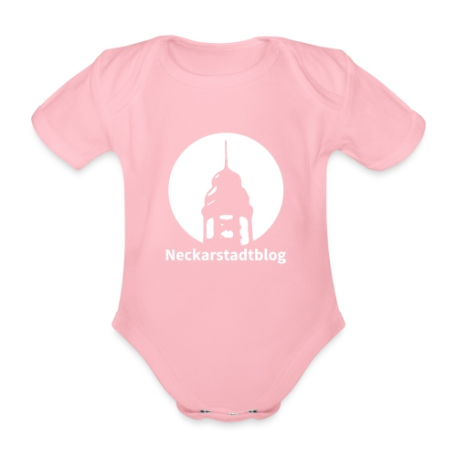 Logo mit Schriftzug inv. (Alternative Farben) - Baby Bio-Kurzarm-Body