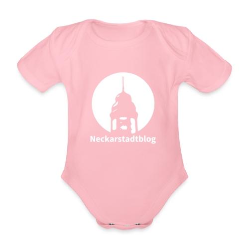 Logo mit Schriftzug invertiert (Alternative Farben - Baby Bio-Kurzarm-Body