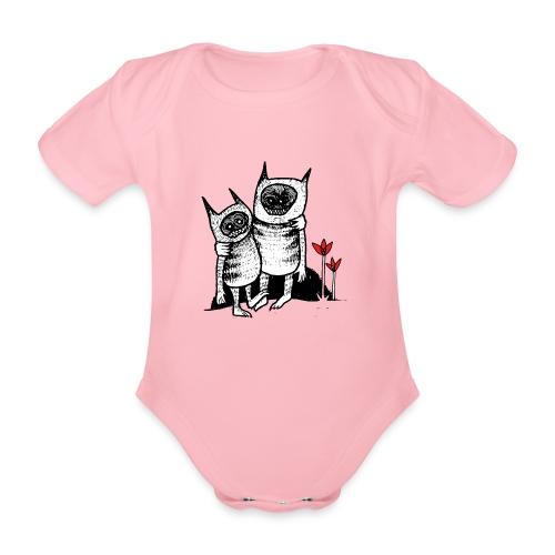 Vänner - Ekologisk kortärmad babybody