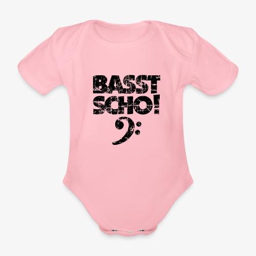 BASST SCHO! Bass Bassschlüssel Bassisten - Baby Bio-Kurzarm-Body