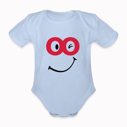 sorriso - Body ecologico per neonato a manica corta