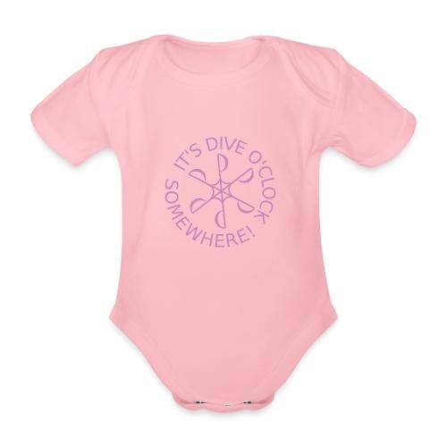 diveoclocklogodlpink png - Organic Short-sleeved Baby Bodysuit
