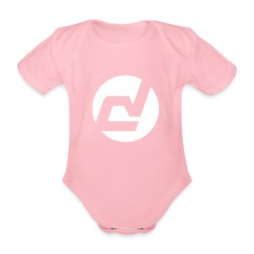 logo blanc - Body Bébé bio manches courtes