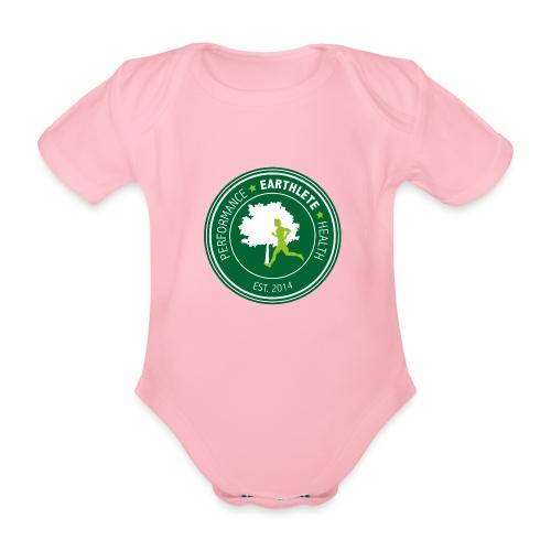 EARTHLETE Brand Logo - Kortærmet babybody, økologisk bomuld