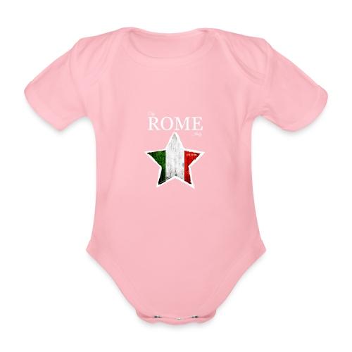 ROME - Organic Short-sleeved Baby Bodysuit