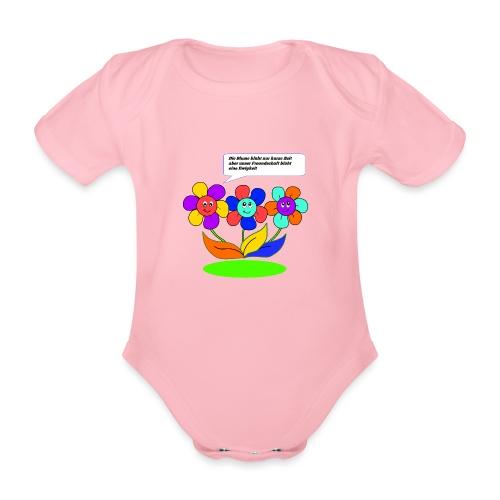 Blumen Freundschaft - Baby Bio-Kurzarm-Body