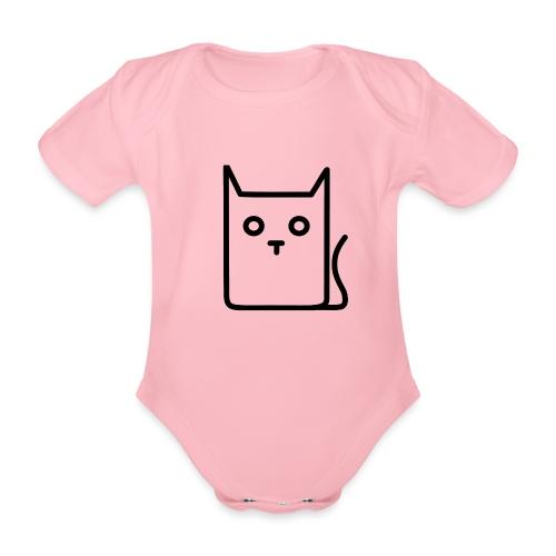 Katze Schwarz - Baby Bio-Kurzarm-Body