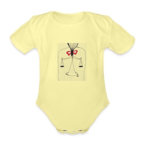 Libra Horoscope - Ekologisk kortärmad babybody