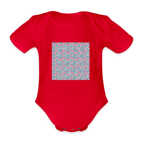 kidfootprint a5 - Organic Short-sleeved Baby Bodysuit