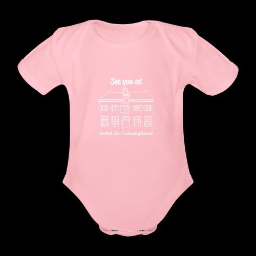 See you at Hotel de Tabaksplant WHITE - Organic Short-sleeved Baby Bodysuit