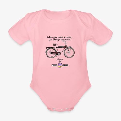 Bicycle or... - Body ecologico per neonato a manica corta