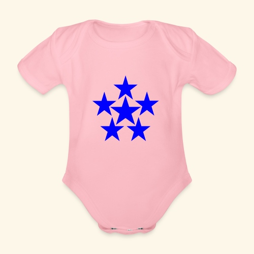 5 STAR blau - Baby Bio-Kurzarm-Body