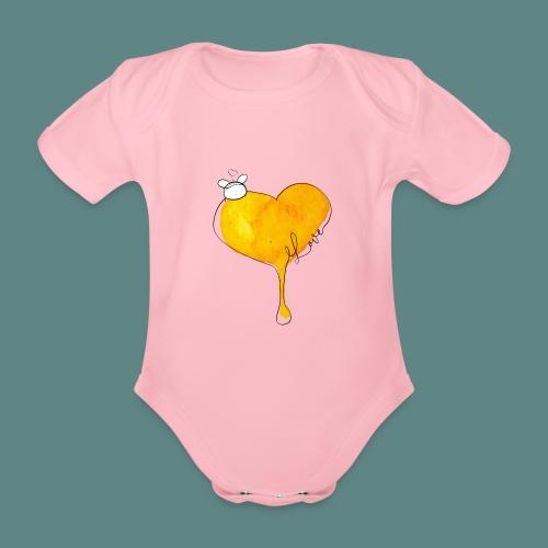 Heart Bee LOVE - Body Bébé bio manches courtes
