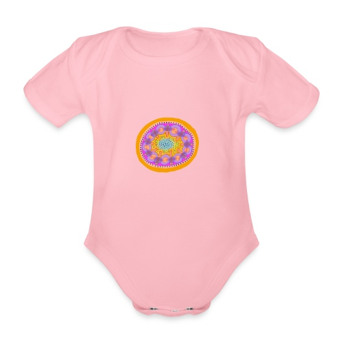 Mandala Pizza - Organic Short-sleeved Baby Bodysuit