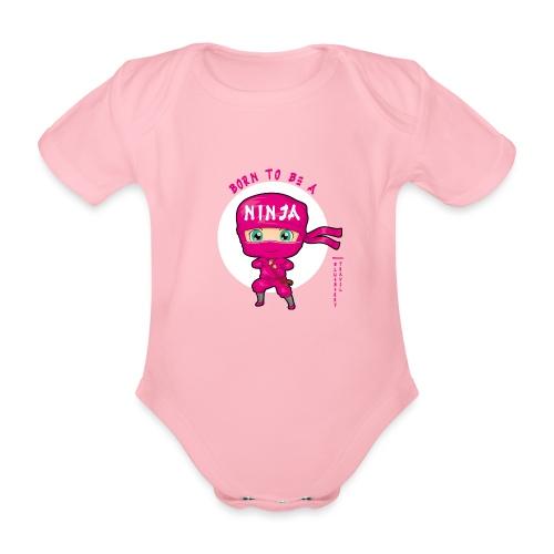 Ninja Baby girl - Body ecologico per neonato a manica corta