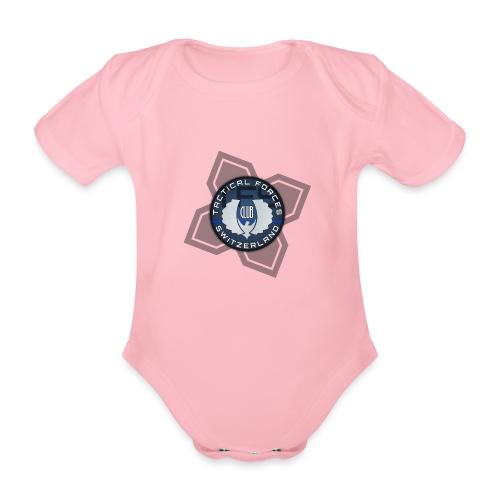 TFS Badge Bleu - Body Bébé bio manches courtes
