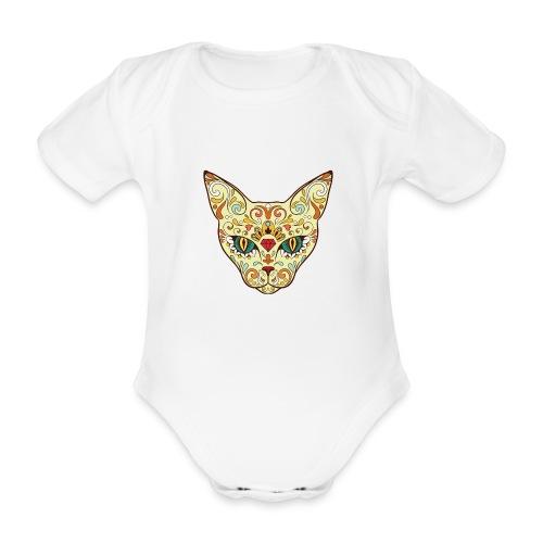 Skull Cat - Body ecologico per neonato a manica corta