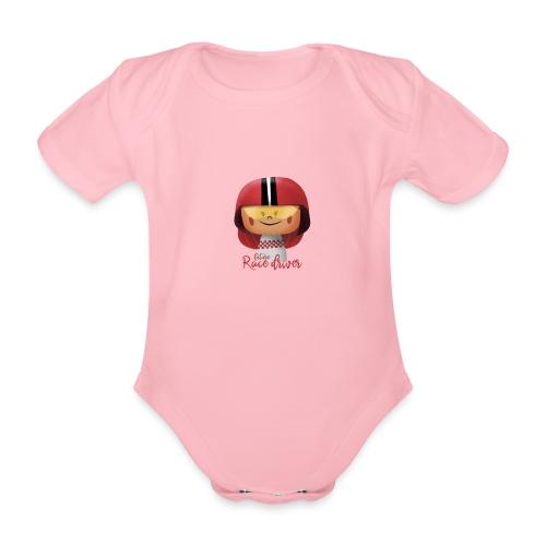 Peekaboo Females -The Race Driver - Kortærmet babybody, økologisk bomuld