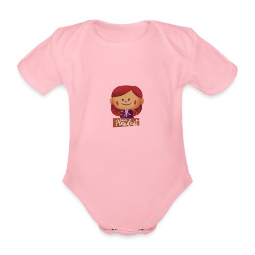 Peekaboo Females -The President - Kortærmet babybody, økologisk bomuld