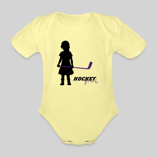 Hockey Girl I - Baby Bio-Kurzarm-Body