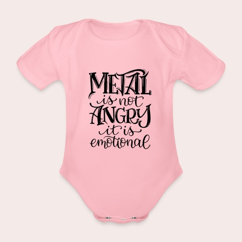 METAL is not ANGRY - Baby Bio-Kurzarm-Body