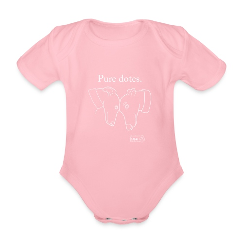 Greyhounds are Pure Dotes - Organic Short-sleeved Baby Bodysuit