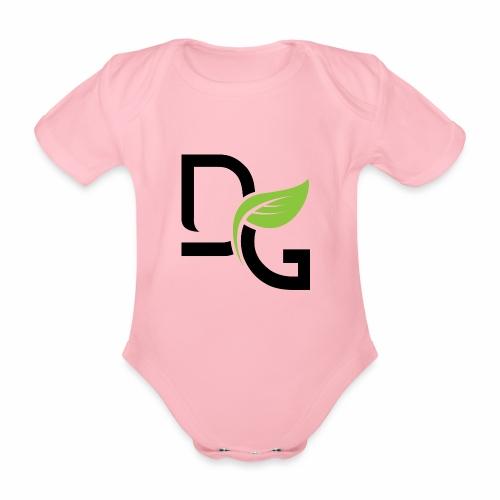 DrGreen Logo Symbol schwarz grün - Baby Bio-Kurzarm-Body