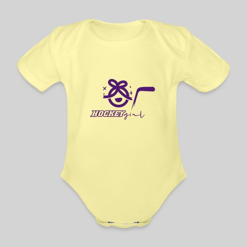 Hockey Girl II - Baby Bio-Kurzarm-Body