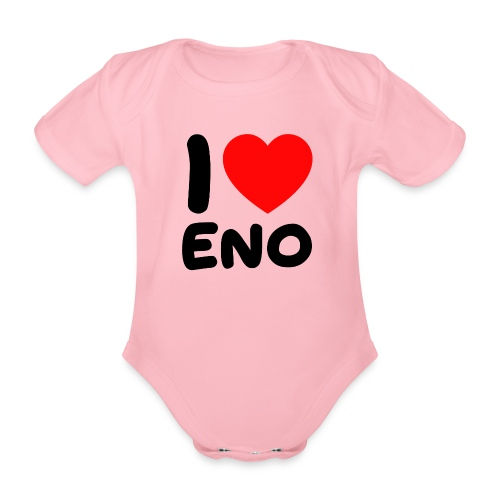 I love Eno / musta - Vauvan lyhythihainen luomu-body