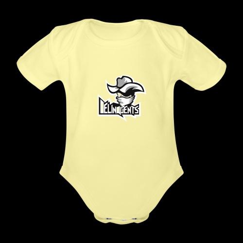 Delinquents TriColor - Kortærmet babybody, økologisk bomuld