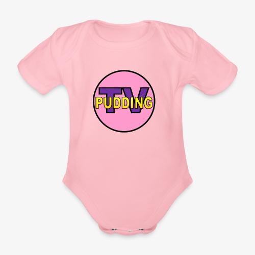 Pudding-TV Logo - Økologisk kortermet baby-body