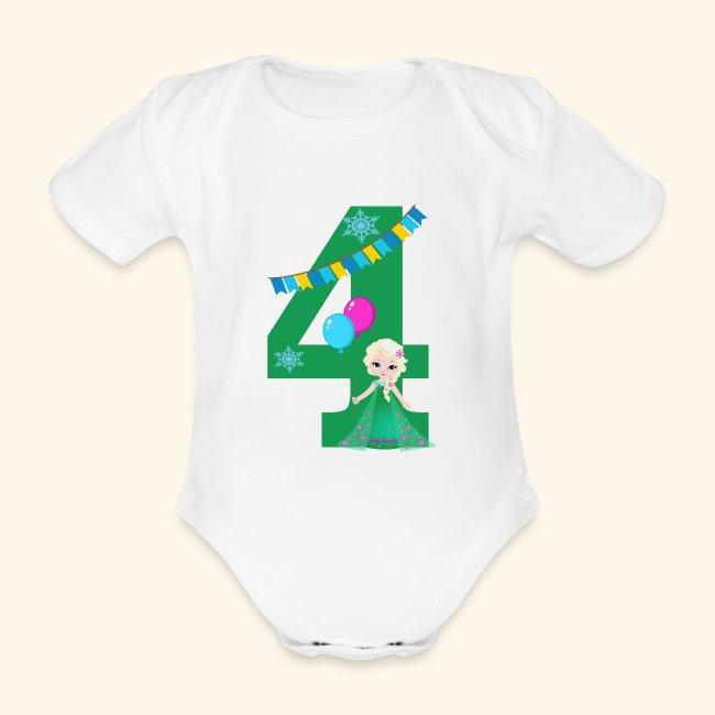 Baby-Body 1.Geburtstag Ich bin 1 Zahl Alter Rakete kurzarm Body Baumwolle